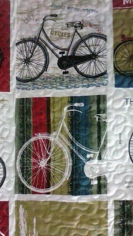 Покрывало стеганое с наволочкой детское 160Х220 Печворк СПОРТ Велосипед, фото 2