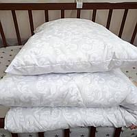 Одеяло зимнее + подушка в кроватку