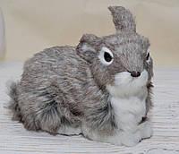 Пасхальный кролик серый мех, фото 1