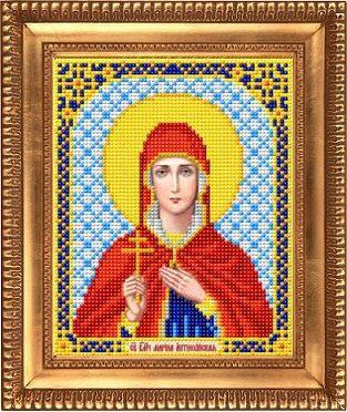 """Схема для вышивки бисером, именная икона """"Святая Великомученица Марина"""" И-5162"""