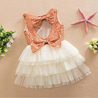 Платье с пайетками (крем)  90,100,120