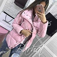 Женская теплая куртка с потайными кнопками, фото 1