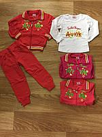 Спортивынй трикотажный костюм-тройка BST для девочек 6-36 месяцев