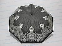 Жіночий напівавтомат зонт двосторонній чорний, фото 1