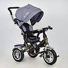 Велосипед трехколесный с поворотным сиденьем Best Trike 5688 LEN (надувные колеса) серый