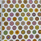 Декоративная ткань  под цветные круги 133528, фото 2