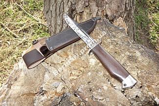 Нож армейский боевой финка  с гардой  деревянная рукоять +чехол