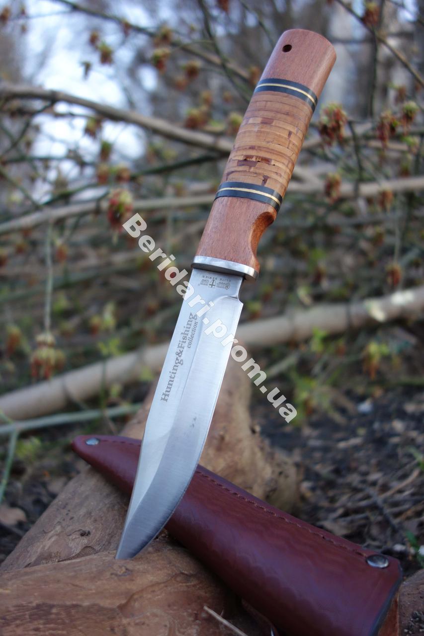 """Нож универсальный  """" проникающий"""",сталь 440с +кожаные ножны"""