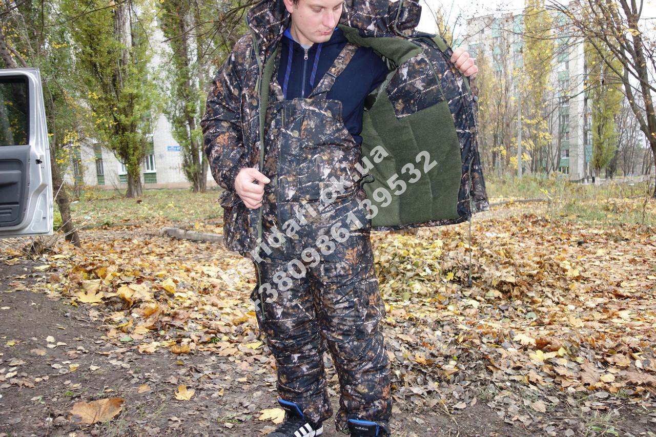 Зимовий костюм Темний ліс .-30 ,комфортний і теплий ,для риболовлі та полювання