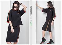 """Костюм TM Yavorsky """"Гуччи"""" стильный футболка и юбка вязка KY803"""