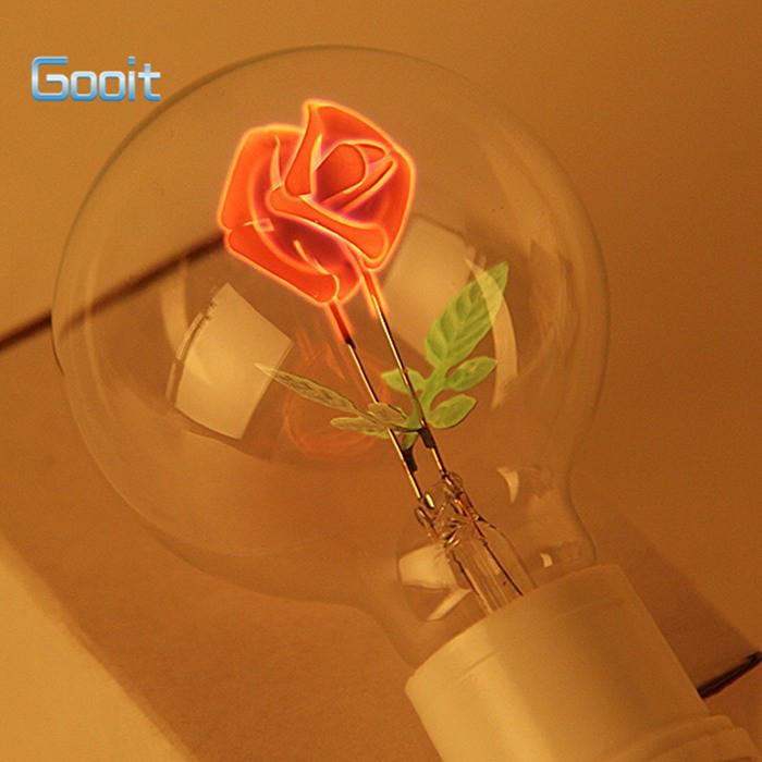 Лампочка с розой внутри подарок любимой девушке, лампа розочка