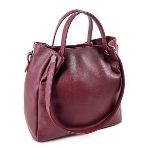 Женская бордовая стильная сумка из кожзаменителя М130-38, фото 2