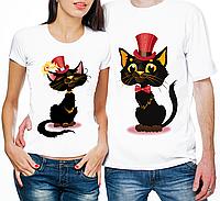 """Парные футболки """"Котик и Кошечка"""" (частичная, или полная предоплата)"""
