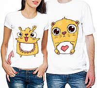 """Парные футболки """"Хомячки"""" (частичная, или полная предоплата)"""