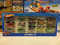 Подарочный Набор из 20 машинок Hot Wheels оригинал Mattel (Хот Вилс 20 Car Pack)
