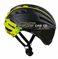 Велосипедный шлем с визором Casco SPEEDairo RS black-neon (MD)