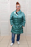Двухсторонняя зеленая куртка-пальто демисезонная Италия