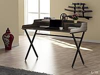 Стол офисный L-10 в стиле Loft, цвет Дуб палена