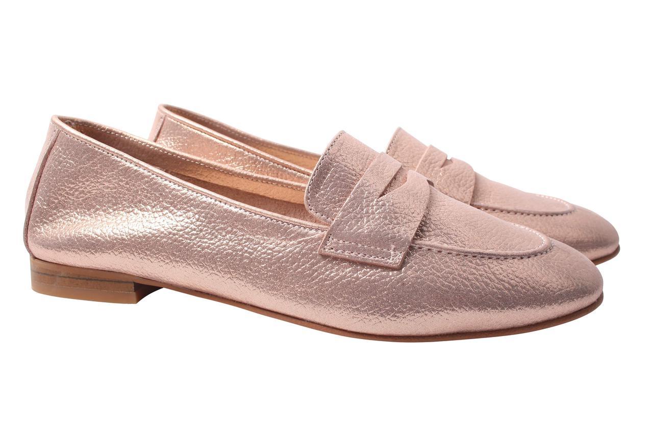 Туфли женские Tucino натуральная кожа, цвет золотисто-розовый (каблук, стильные, комфорт, лето, Турция)