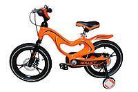 Детский двухколесный велосипед Hollicy 16 магневая рама оранжевый MH1611-438