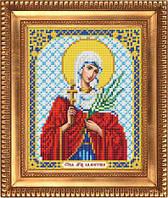"""Схема для вышивки бисером, именная икона """"Святая мученица Валентина"""" И-5123"""