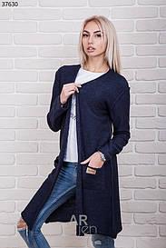 Женский вязанный кардиган с карманами 37630