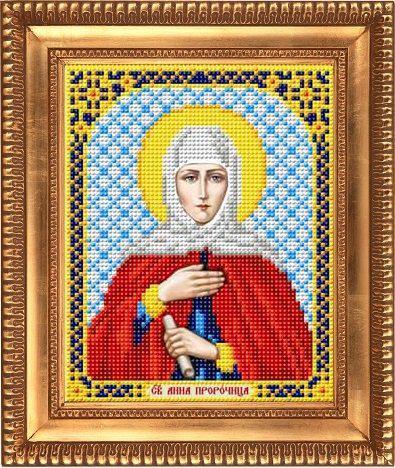 """Схема для вышивки бисером, именная икона """"Святая Пророчица Анна"""" И-5122"""