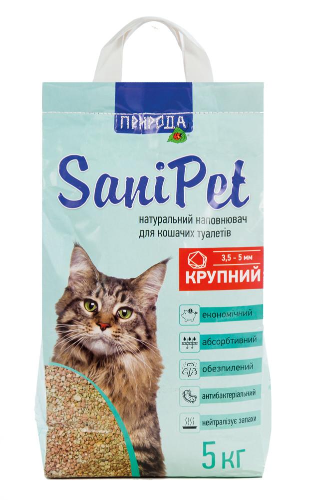 Наполнитель бентонитовый крупный (3,5-5 мм) для кошачьих туалетов 5кг