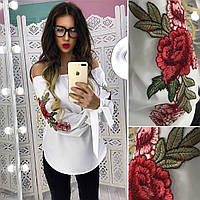 Женская модная блуза с вышивкой (4 цвета), фото 1