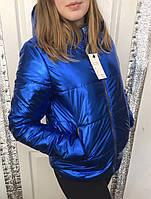 Куртка весенняя женская м612 со съемным капюшоном