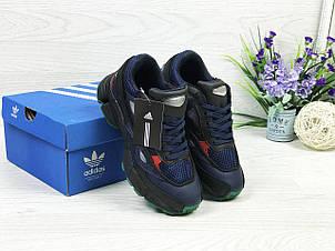Модные подростковые кроссовки Adidas raf simons,темно синие 36р, фото 2