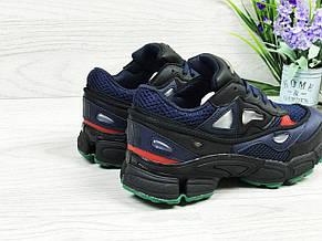 Модные подростковые кроссовки Adidas raf simons,темно синие 36р, фото 3