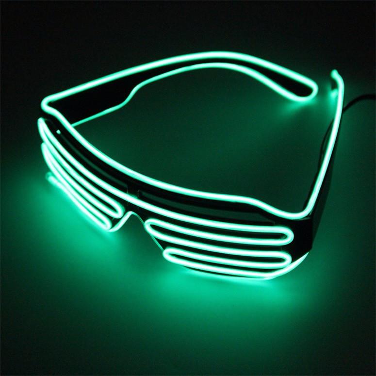 Светодиодные Led El очки светящиеся очки для вечеринок, пати. Зеленые