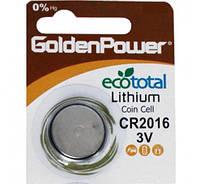 Дисковая батарейка GOLDEN POWER Lithium Cell 3V  CR2016