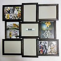 Деревянная эко мультирамка, коллаж #409 венге, орех, белый, чёрный., фото 1