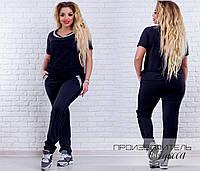 Костюм № 7033 (батал) серый, чёрный, бордо, джинс