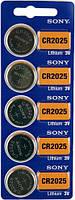 Дисковая батарейка SONY Lithium Cell 3V CR2025