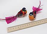 Птичка 3*4,5см, на проволочке, фото 2
