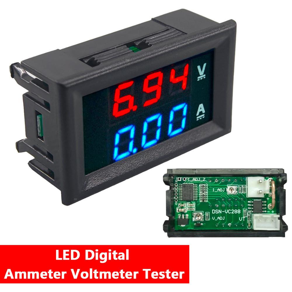 Вольтметр / Амперметр 0.01-33V /10А (Шунт встроен в прибор)