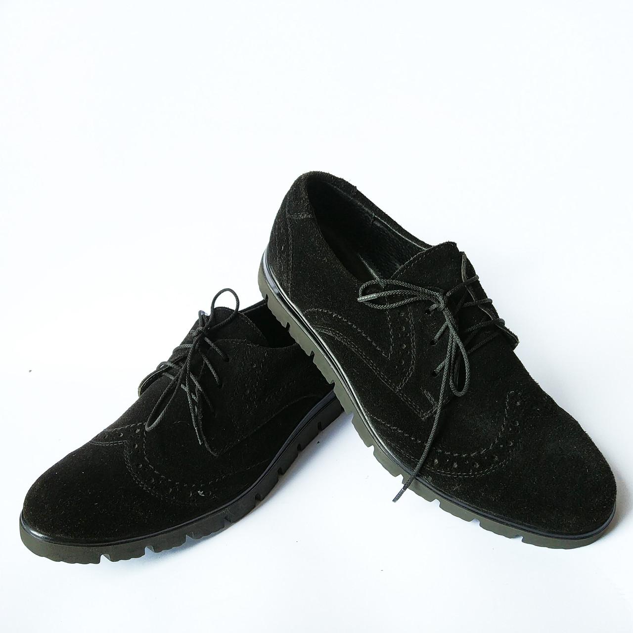 6241c00ae Обувь Харьков мужская : замшевые мокасины, черного цвета, фабрики DanShoes