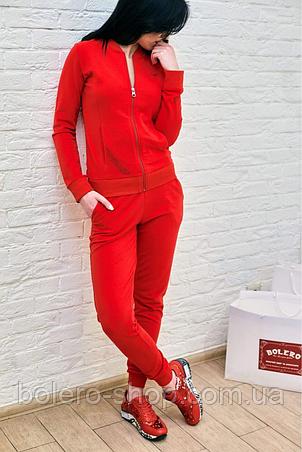 Женскиий костюм спортивный Armani красный, фото 2