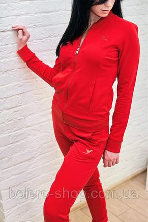 Женскиий костюм спортивный Armani красный, фото 3