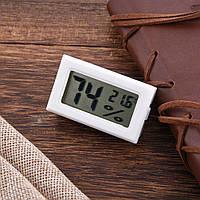 Электронный термометр гигрометр без выносного датчика (внутренний датчик) -50+110 белый
