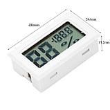 Электронный термометр гигрометр без выносного датчика (внутренний датчик) -50+110 белый, фото 2