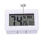 Электронный термометр гигрометр без выносного датчика (внутренний датчик) -50+110 белый, фото 3