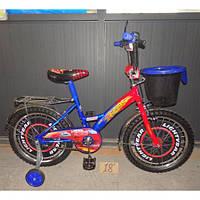 """Двухколесный детский велосипед Mustang """"Тачки"""" 16 дюймов для мальчика (12 дюймов)"""