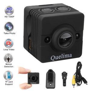Мини камера Quelima SQ12 1080P Full HD регистратор, экшн камера, веб камера