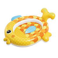 Бассейн надувной детский Intex57111, Золотая рыбка, 140-24-34см, ремкомплект, 1-3года, в кор-ке