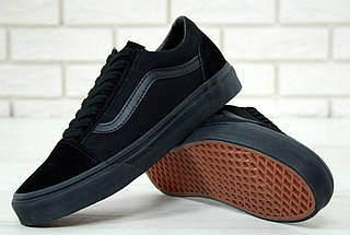 Кеды Vans Old Skool Black (унисекс), vans old school, ванс олд скул, фото 2