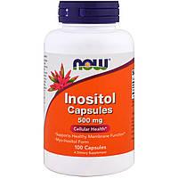 Inositol Capsules, Now Foods, 500 mg 100 Veg Capsules / Инозитол